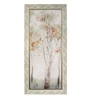 AUTUMN FIRST BREATH II | 32in w X 68in ht | MADE IN USA | TEXTURED FRAME PRINT