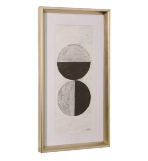 ORBS II | 26in ht X 14in w | Framed Print Under Glass