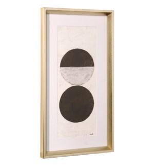 ORBS | 26in ht X 14in w | Framed Print Under Glass