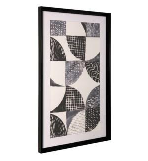 NIGHT SKY I | 36in ht X 22in w | Framed Print Under Glass