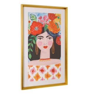 BOHO GIRL II | 36in ht X 22in w | Framed Print Under Glass