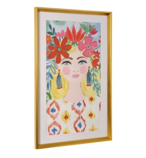 BOHO GIRL I | 36in ht X 22in w | Framed Print Under Glass