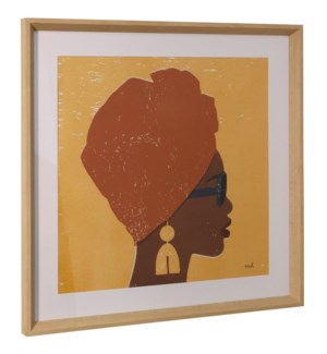 KENYA COUTURE I | 26in ht X 26in w | Framed Print Under Glass