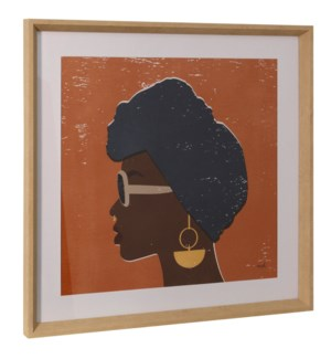 KENYA COUTURE II | 26in ht X 26in w | Framed Print Under Glass
