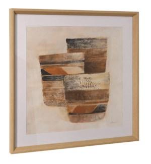 DESERT STILL LIFE II | 26in ht X 26in w | Framed Print Under Glass
