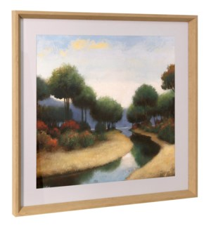 BY THE WATERWAYS I | 26in ht X 26in w | Framed Print Under Glass