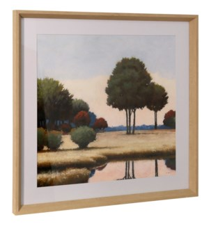 BY THE WATERWAYS II | 26in ht X 26in w | Framed Print Under Glass