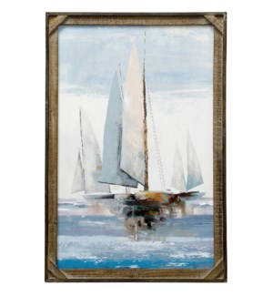 SAILING SEAS | 24in X 36in | Made in the USA | Textured Framed Print