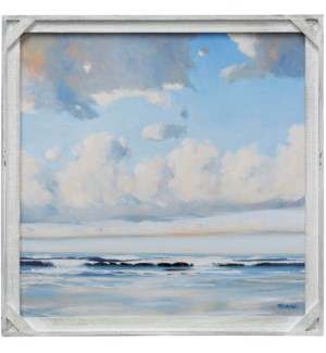 VACATION VIBES | 30in X 30in | Made in the USA | Textured Framed Print