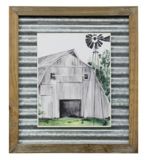 WEATHERED BARN II   14in X 16in   Made in the USA   Textured Framed Print
