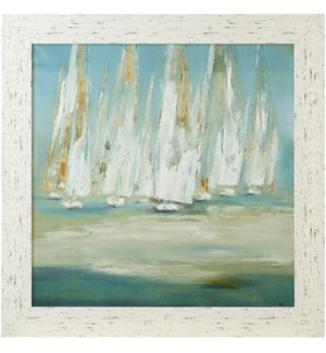 REGATTA | 43in X 43in | Made in the USA | Textured Framed Print