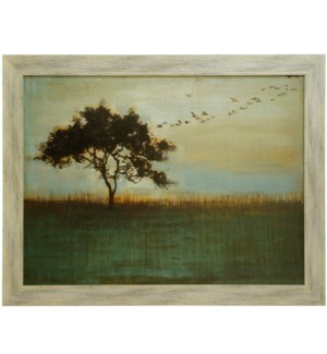 A FLEETING GLIMPSE   36in X 47in   Made in the USA   Textured Framed Print
