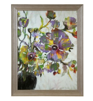 VIVID POPPIES   46in X 36in   Made in the USA   Textured Framed Print
