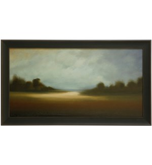 PEACEFUL VISTA   30in X 52in   Made in the USA   Textured Framed Print