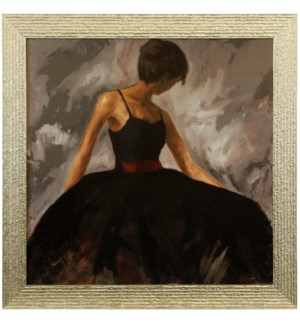 EVENING OUT   36in X 36in   Made in the USA   Textured Framed Print