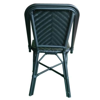 All Black Modern Café Bistro Chair