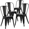 Metal Black Café Bistro Chair