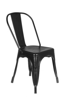 Metal Black Café Bistro Chair