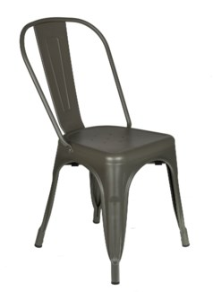 Metal Grey Café Bistro Chair