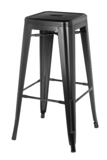 Metal Black Café Bistro Stool