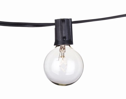 Savannah String Lights - C9 Black 50ft Cord only