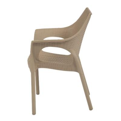 Beige Commercial Armrest Chair