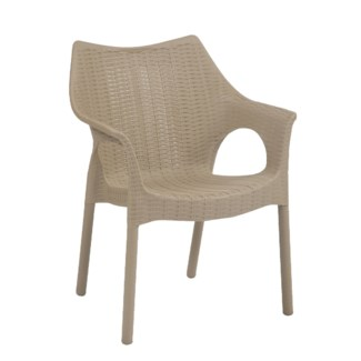Beige Commercial Armrest Chair