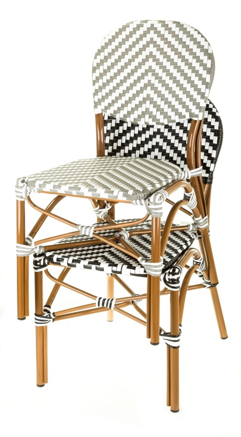 black & white café bistro chair - chairs - aspen brands