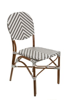 Grey and White Café Bistro Chair
