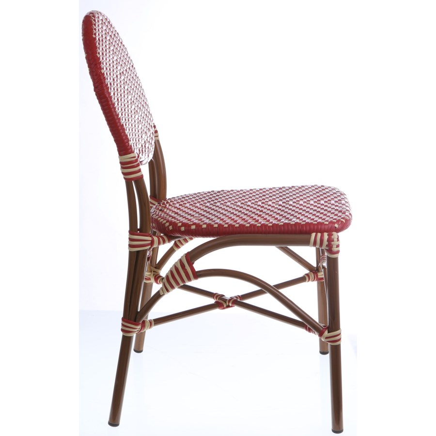 Red & Cream Café Bistro Chair