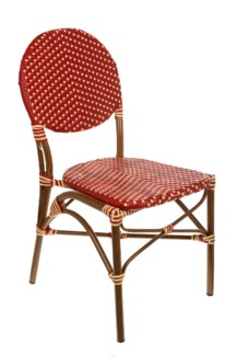 Red & Cream Café Bistro Chair