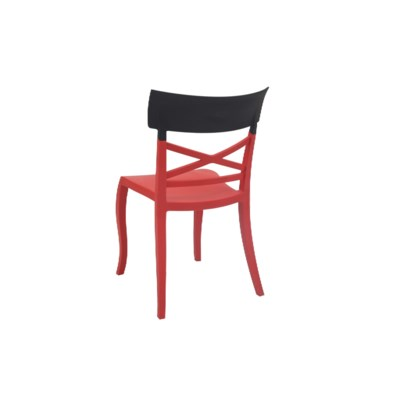 Red With Black Top Commercial Grade Chair