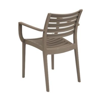 Grey Commercial Grade Armrest Chair