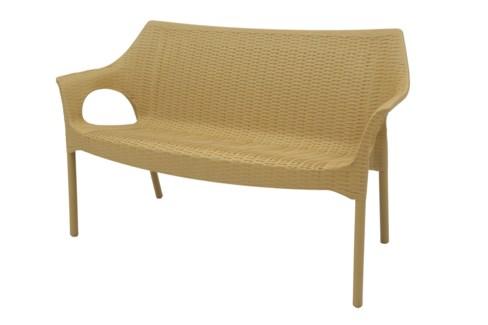 Beige Commercial Grade Loveseat