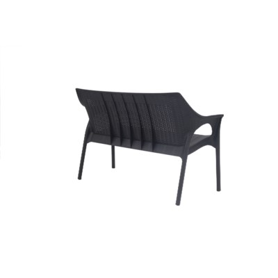 Black Commercial Grade Loveseat