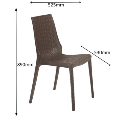 Brown 5 Piece Set - Commercial Grade Chairs & Table
