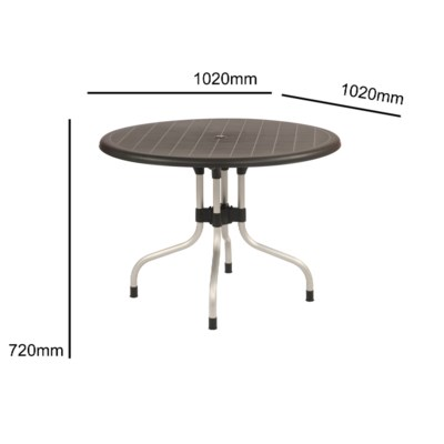 Black Commercial Grade Table