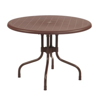 Brown Round Shape Commercial Grade Table