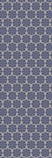 Modern European Design - Size Rug: 2ft x 6ft blue & white