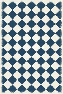 Diamond European Design - Size Rug: 4ft x 6ft blue & white colors