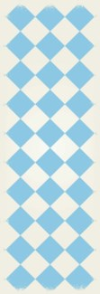 Diamond European Design - Size Rug: 2ft x 6ft light blue & white colors