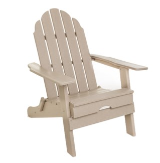 Sand Commercial Grade Poly HPDE Folding Adirondack Chair