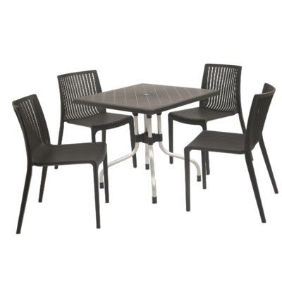 Black Square Commercial Grade Table