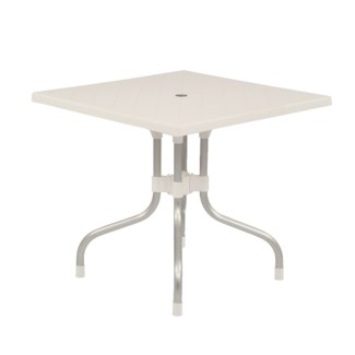 White Square Shape Commercial Grade Table