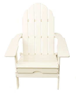 White Commercial Grade Poly HPDE Folding Adirondack Chair