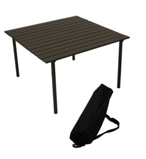 Brown Low Aluminum Table in a Bag