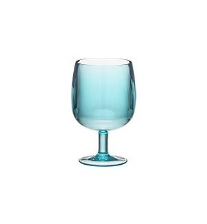 Blue BPA Plastic Stackable wine glasses
