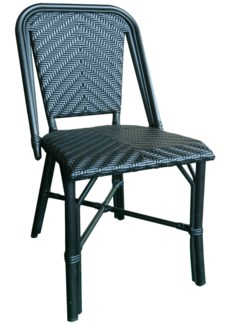 All Black Modern Café Bistro Chair