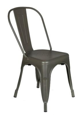 Metal Grey Café Bistro Chair