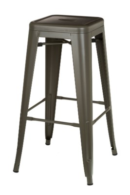 Metal Grey Café Bitro Stool